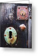 New And Old Locks Greeting Card