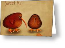 New Arrival. Kiwi Bird - Sweet As - Boy Greeting Card