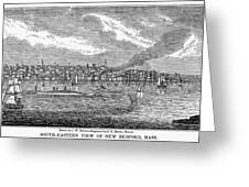 New Bedford, 1839 Greeting Card