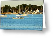 New Bedford Pier Greeting Card