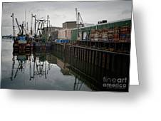 New Bedford Waterfront No. 4 Greeting Card