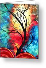 New Beginnings Original Art By Madart Greeting Card by Megan Duncanson