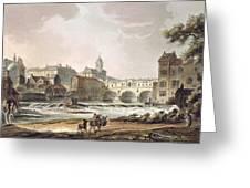 New Bridge, From Bath Illustrated Greeting Card
