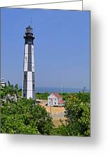 New Cape Henry Lighthouse Vertical Greeting Card