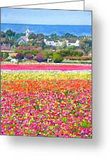 New Carlsbad Flower Fields Greeting Card