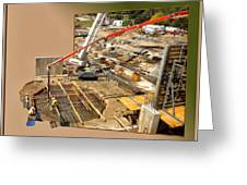 New Commercial Construction Site 02 Greeting Card