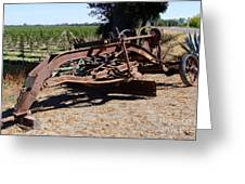New Crop Antiquated Grader Greeting Card