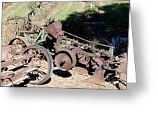 New Crop Antiquated Plow Greeting Card