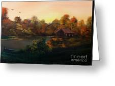 New Day In Autumn Sold Greeting Card by Cynthia Adams