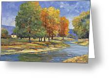 New England Autumn Greeting Card by John Zaccheo