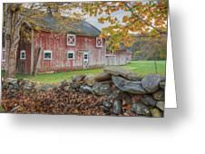 New England Barn Greeting Card by Bill Wakeley