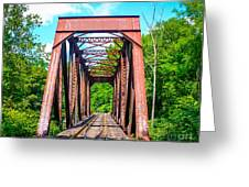 New England Bridge Greeting Card