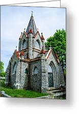 New England Cemetery Mausoleum Greeting Card