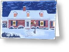 New England Christmas Greeting Card
