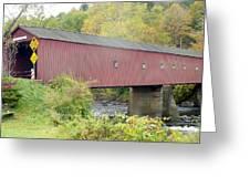 New England Covered Bridge Greeting Card