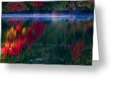 New England Fall Abstract Greeting Card