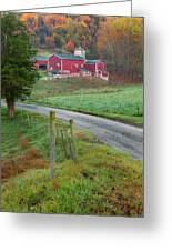 New England Farm Greeting Card by Bill Wakeley
