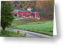 New England Farm Square Greeting Card