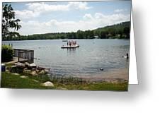 New England Lake Vacation Greeting Card