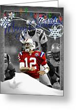New England Patriots Christmas Card Greeting Card