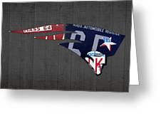 New England Patriots Football Team Retro Logo