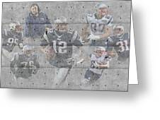 New England Patriots Team Greeting Card