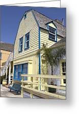 New England Style Building At Fisherman's Village Marina Del Rey Los Angeles Greeting Card