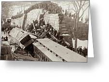 New England Train Wreck Greeting Card