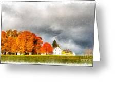 New England Village Greeting Card