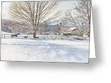 New England Winter Greeting Card