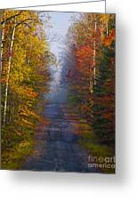 New Hampshire Back Road Greeting Card
