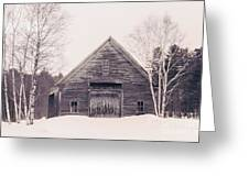 New Hampshire Barn In Black And White Greeting Card