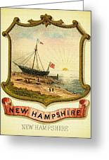 New Hampshire Coat Of Arms - 1876 Greeting Card