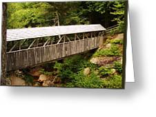 New Hampshire Covered Bridge Greeting Card by Ella Char