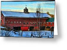 New Hampshire Farm House Greeting Card