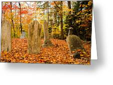 New Hampshire Mountain Cemetery Greeting Card