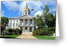 New Hampshire State Capitol Greeting Card