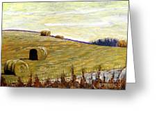 New Haybales Greeting Card by Charlie Spear