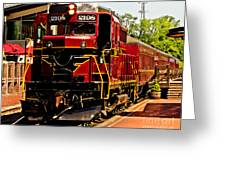 New Hope Ivyland Railroad With Cars Greeting Card