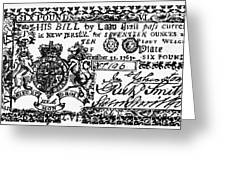 New Jersey Banknote, 1763 Greeting Card
