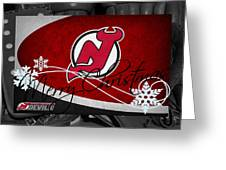 New Jersey Devils Christmas Greeting Card