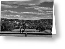 New Jersey Landscape With Horses Greeting Card
