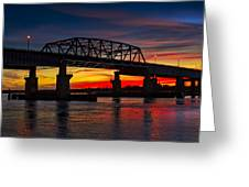 New Jersey Meadowlands Sunset Greeting Card