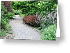 Frelinghuysen Arboretum Path Greeting Card