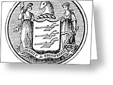 New Jersey State Seal Greeting Card