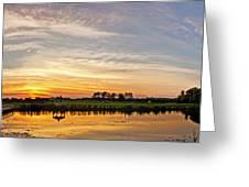 New Jersey Sunset Panoramic Greeting Card