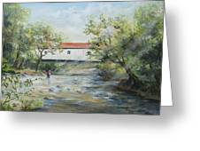 New Jersey's Last Covered Bridge Greeting Card by Katalin Luczay