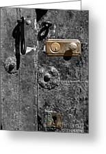 New Lock On Old Door 1 Greeting Card