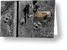 New Lock On Old Door 2 Greeting Card