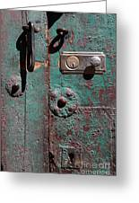 New Lock On Old Door 3 Greeting Card